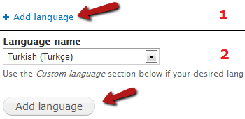 Drupal7 Add Language