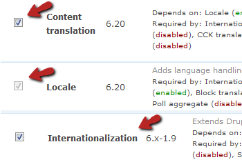 Drupal Translation Modules