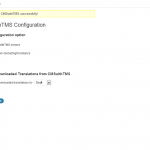 CMSwithTMS auto-configuration page